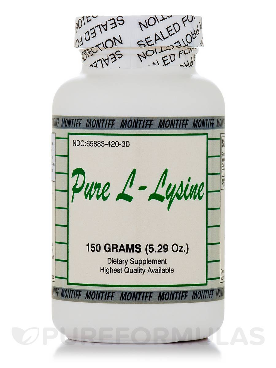 Pure L-Lysine (powder) - 5.29 oz (150 Grams)