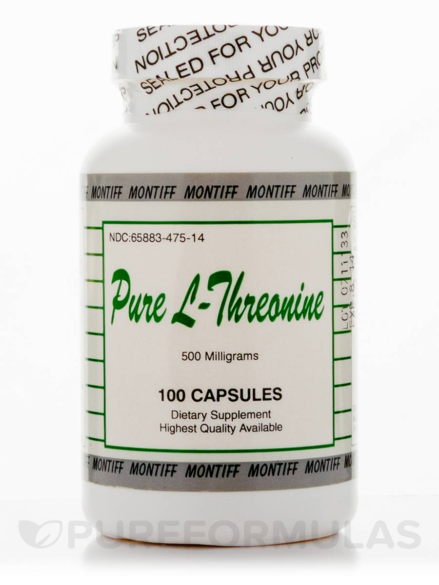 Pure L-Threonine 500 mg - 100 Capsules
