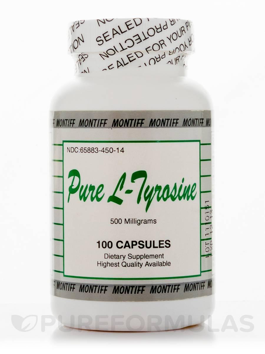 Pure L-Tyrosine 500 mg - 100 Capsules