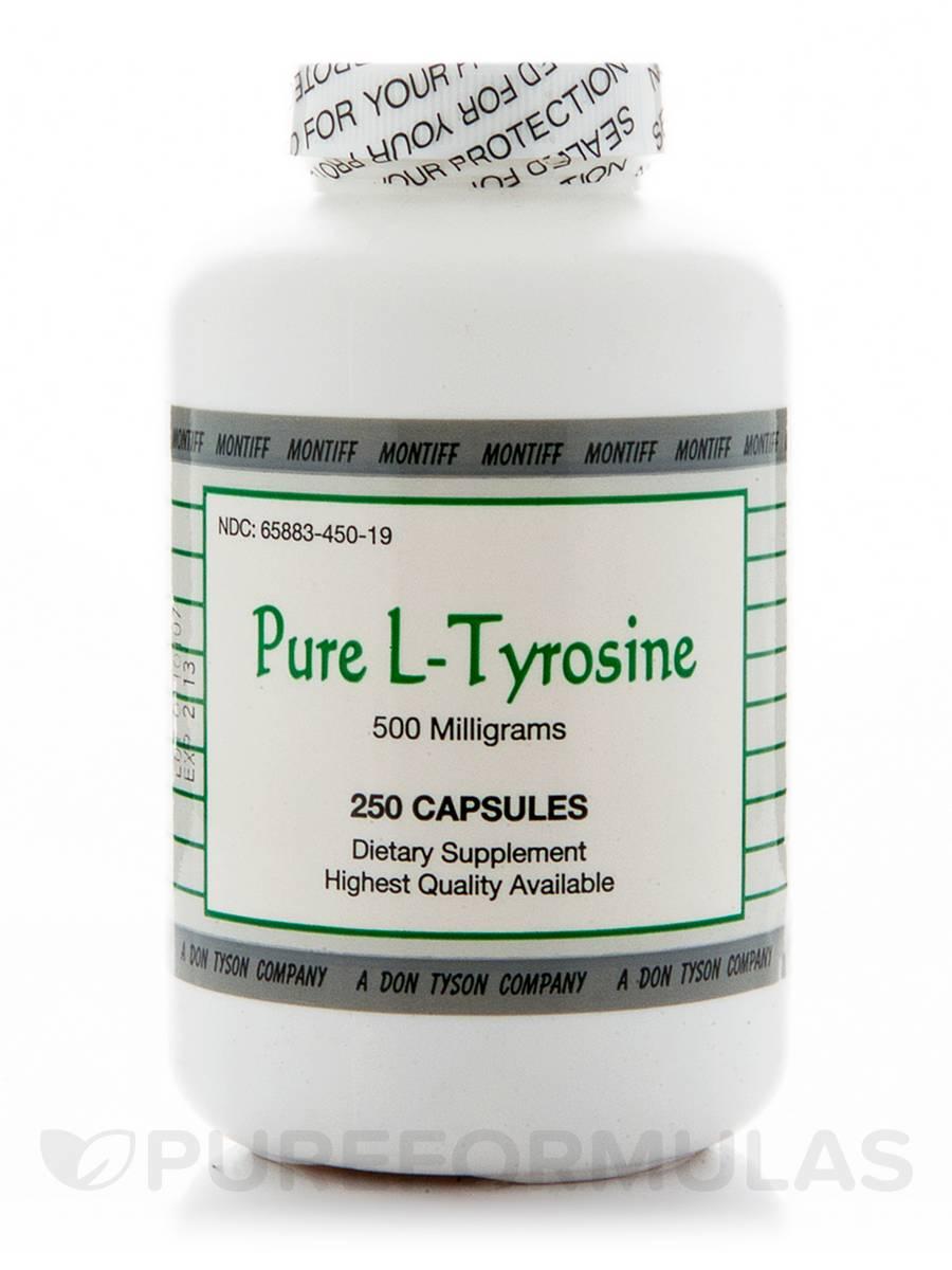 Pure L-Tyrosine 500 mg - 250 Capsules