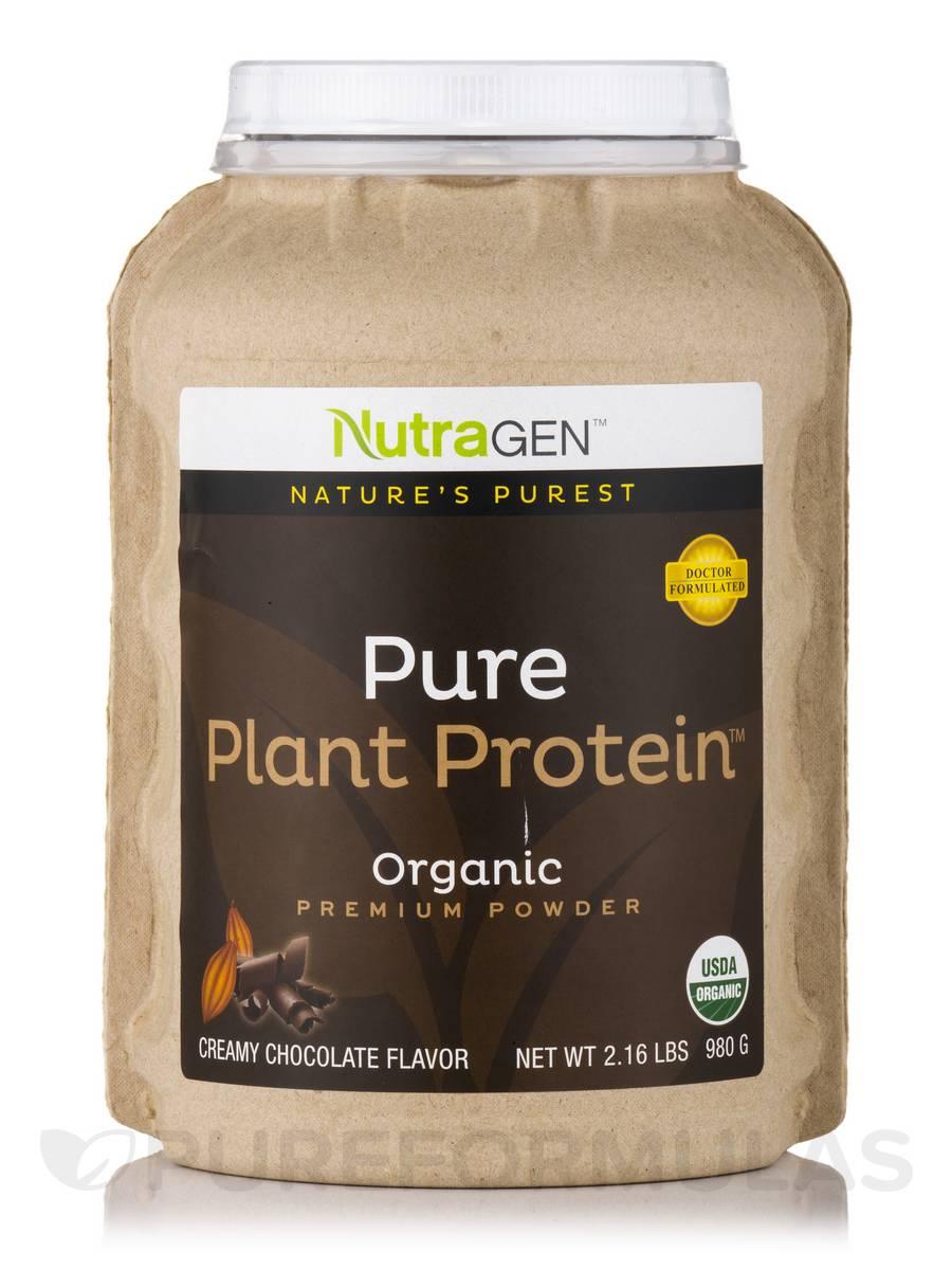 Pure Plant Protein u2122, Organic Premium Powder Creamy Chocolate Flavor 2 16 lbs (980 Grams)