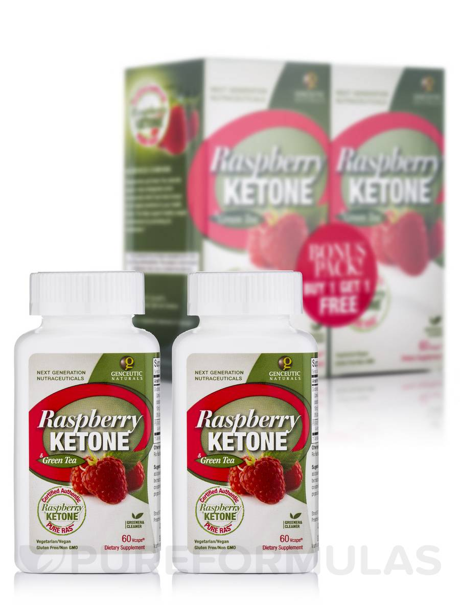 Raspberry Ketone with Green Tea Bonus Pack - 120 Vegetarian Capsules