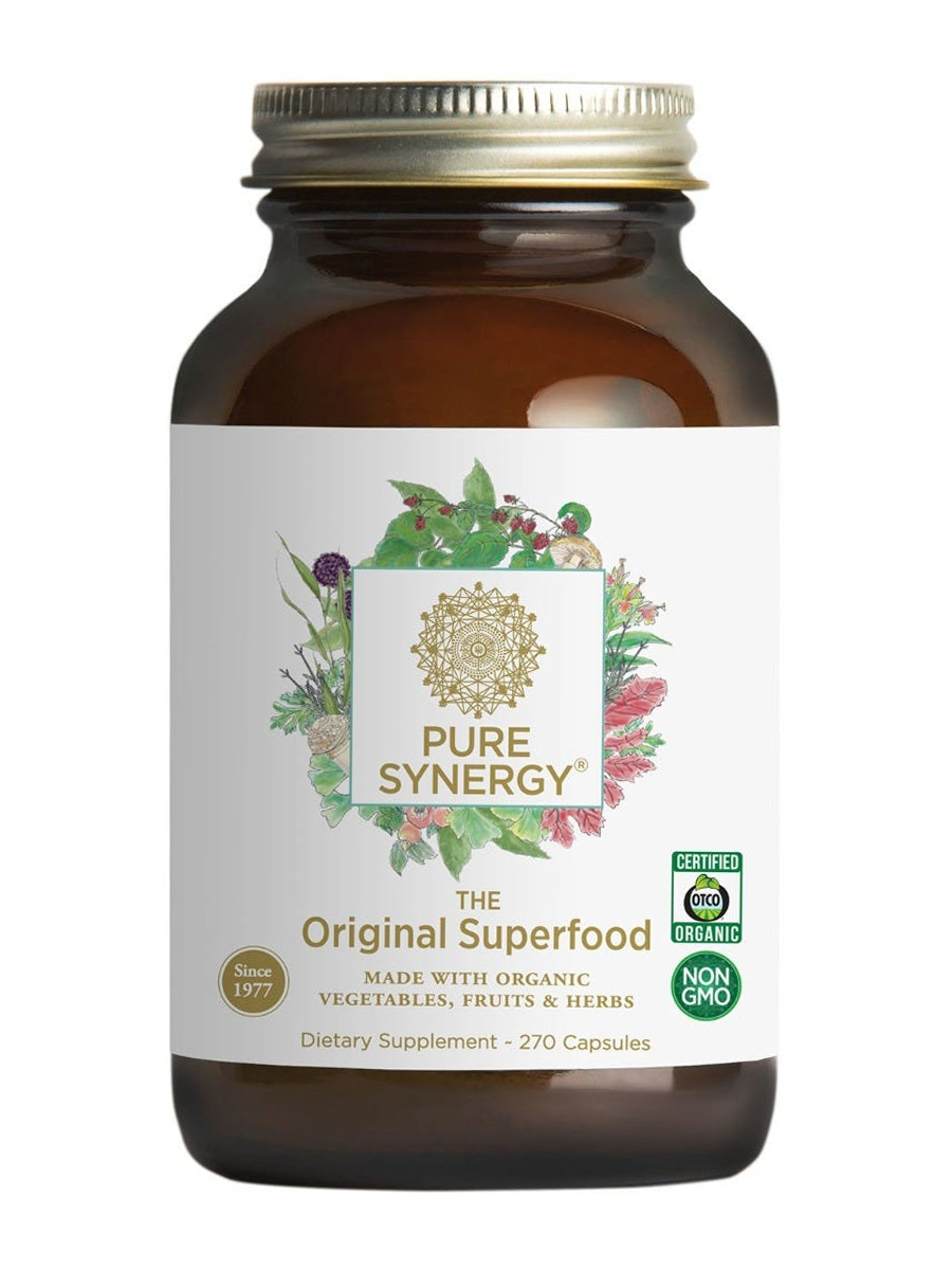 Pure Synergy® Original Superfood 650 mg - 270 Vegetable Capsules