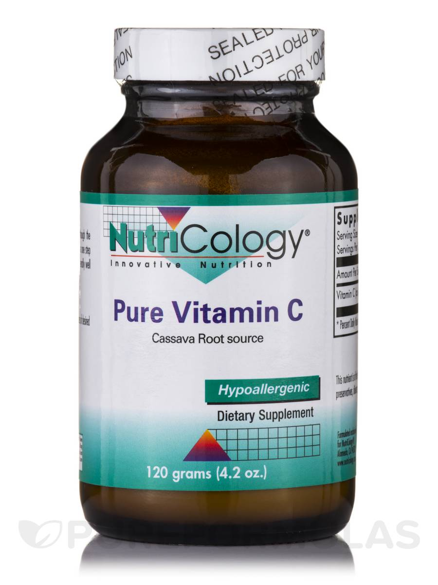 Pure Vitamin C Powder Cassava Root Source - 4.2 oz (120 Grams)