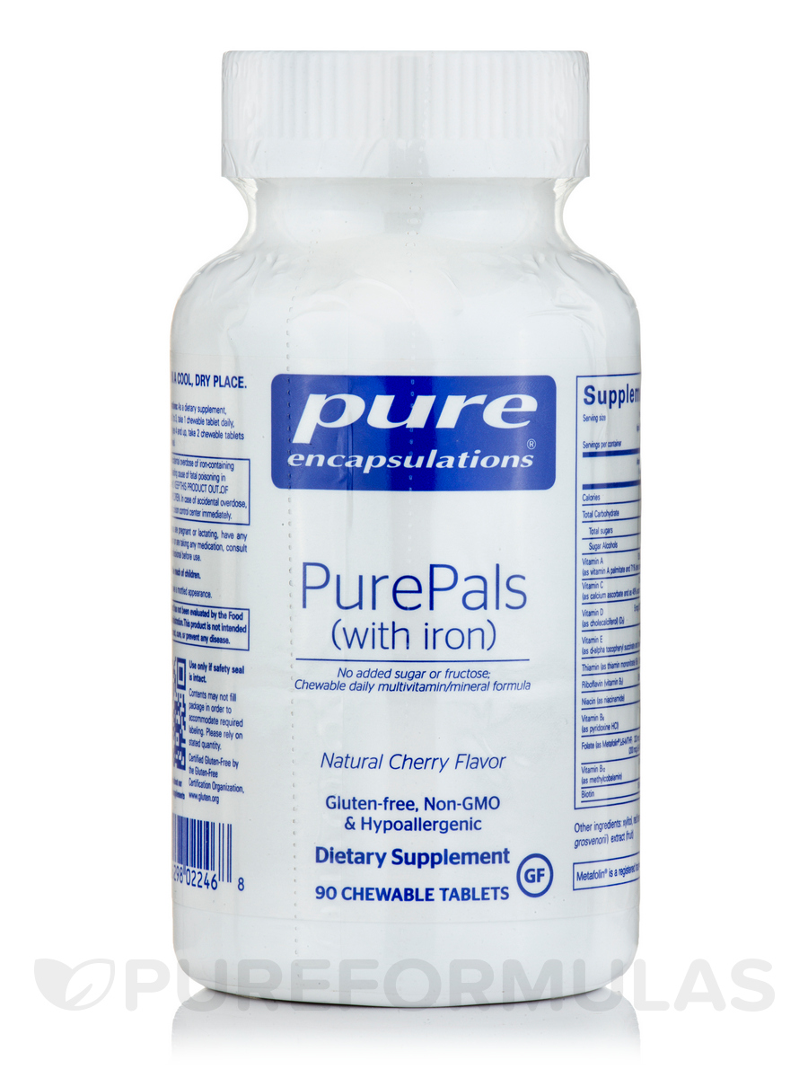 PurePals with Iron - 90 Chewable Tablets