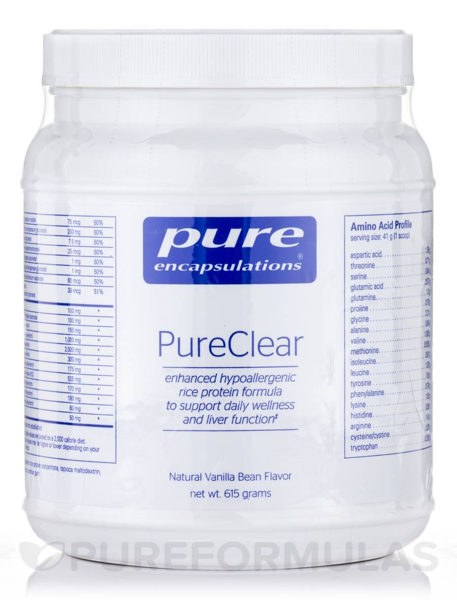 PureClear, Natural Vanilla Bean Flavor - 615 Grams