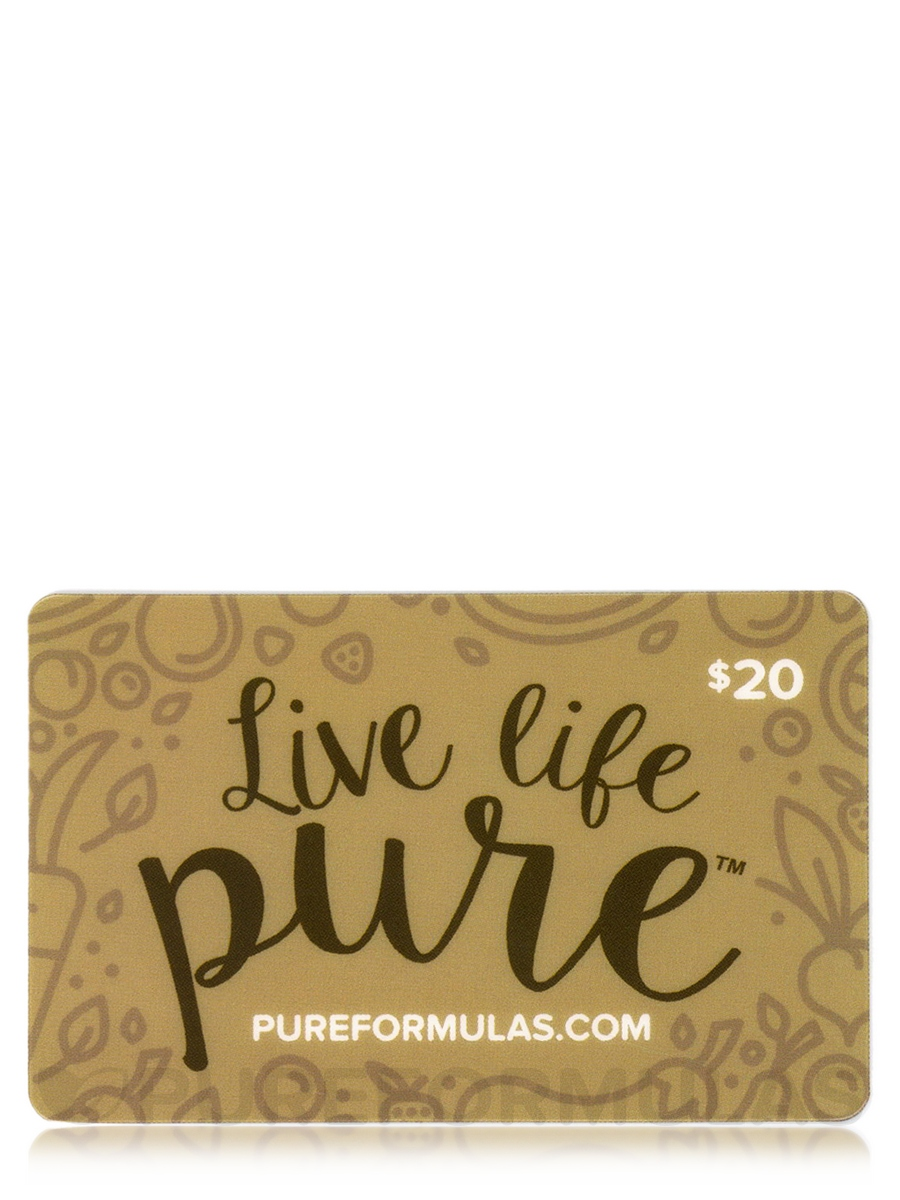 PureFormulas Gift Card - $20 Gift Card by Mail