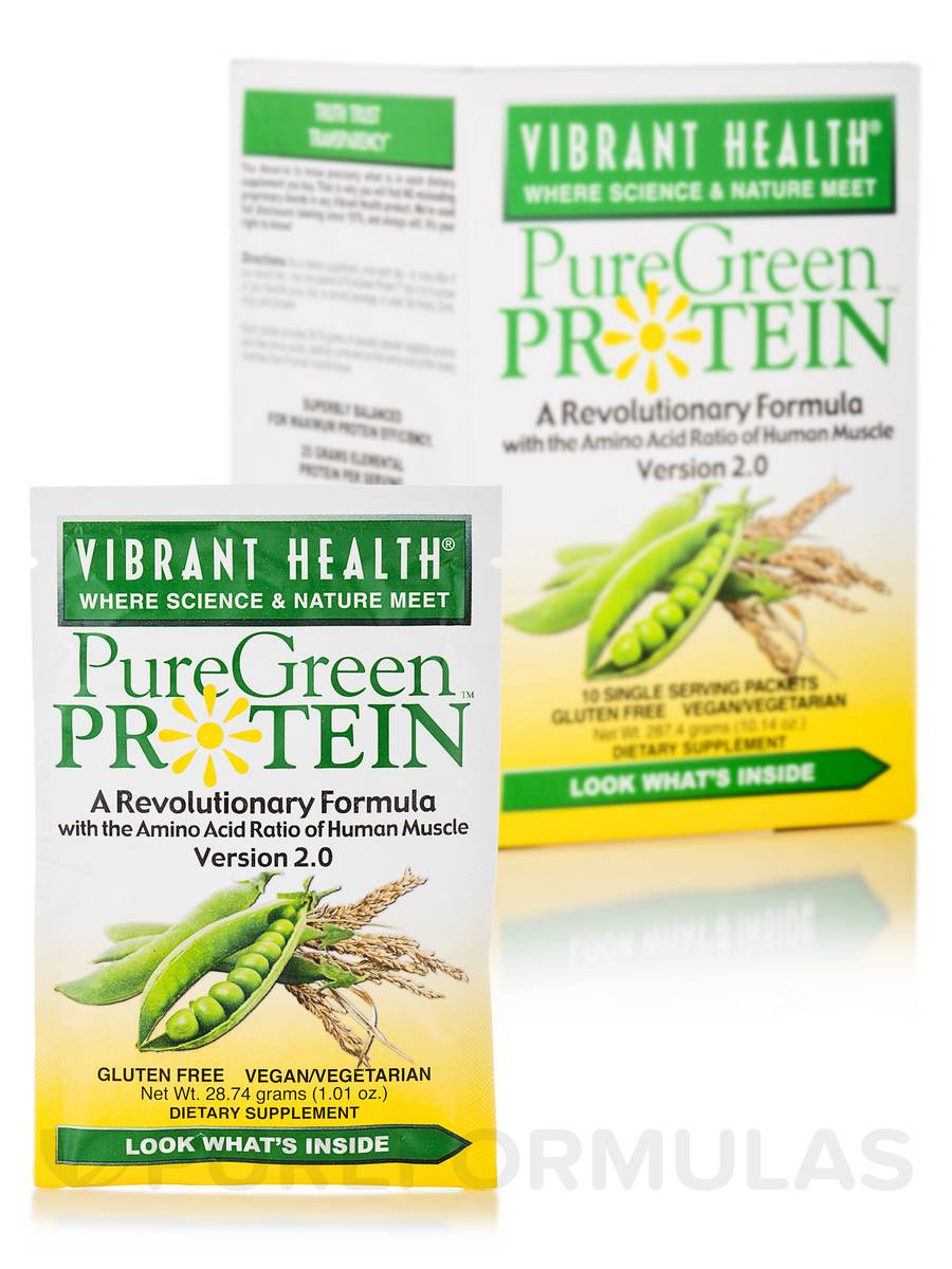 PureGreen Protein™ Natural - 10 Single Serve Packets 10.14 oz (287.4 Grams)