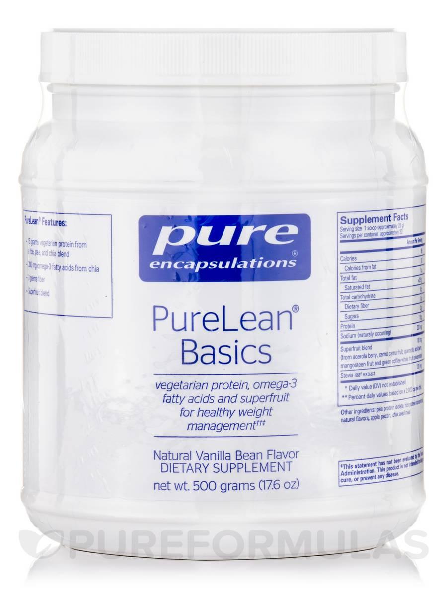 PureLean® Basics, Natural Vanilla Bean Flavor - 500 Grams