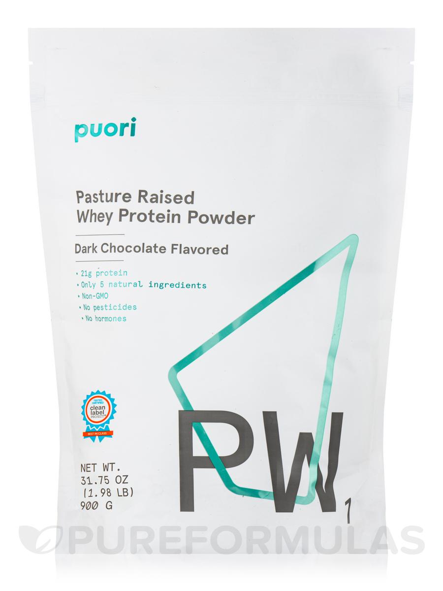PW1 - Pasture Raised Whey Protein Powder, Dark Chocolate Flavor - 31.75 oz (900 Grams)