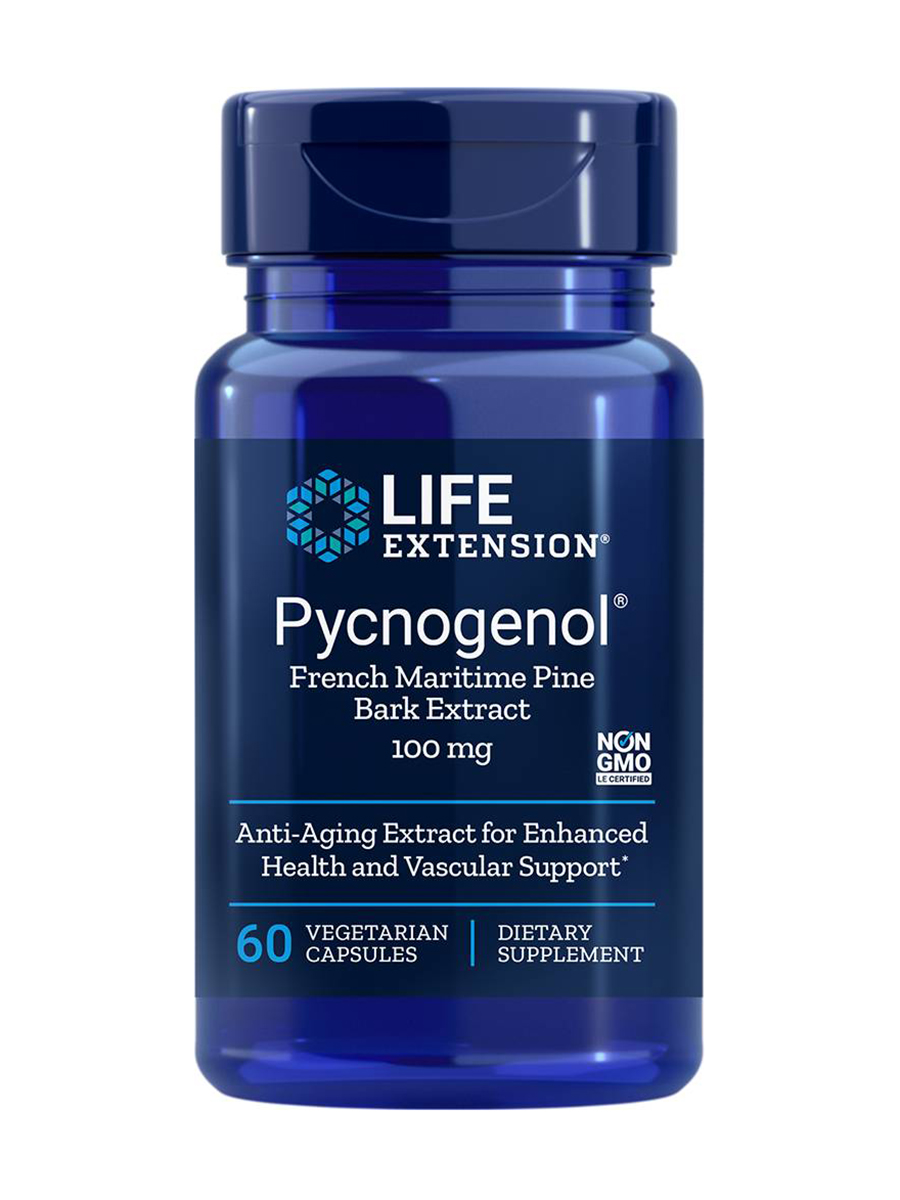 Pycnogenol® French Maritime Pine Bark Extract 100 mg - 60 Vegetarian Capsules