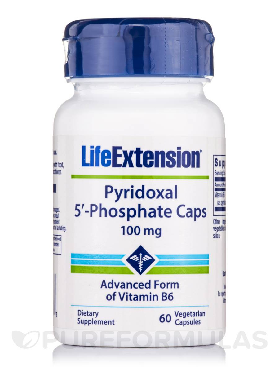 Pyridoxal 5'-Phosphate Caps 100 mg - 60 Vegetarian Capsules
