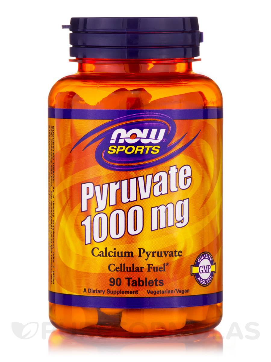 NOW® Sports - Pyruvate Extra Strength 1000 mg - 90 Tablets