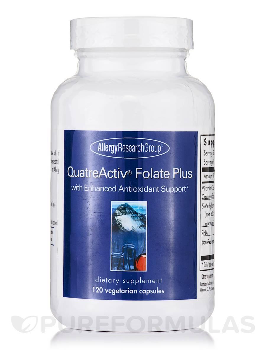 Quatre-Activ™ Folate Plus - 120 Vegetarian Capsules