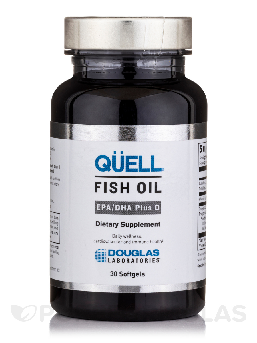 Quell fish oil epa dha plus d 30 softgels for Epa dha fish oil