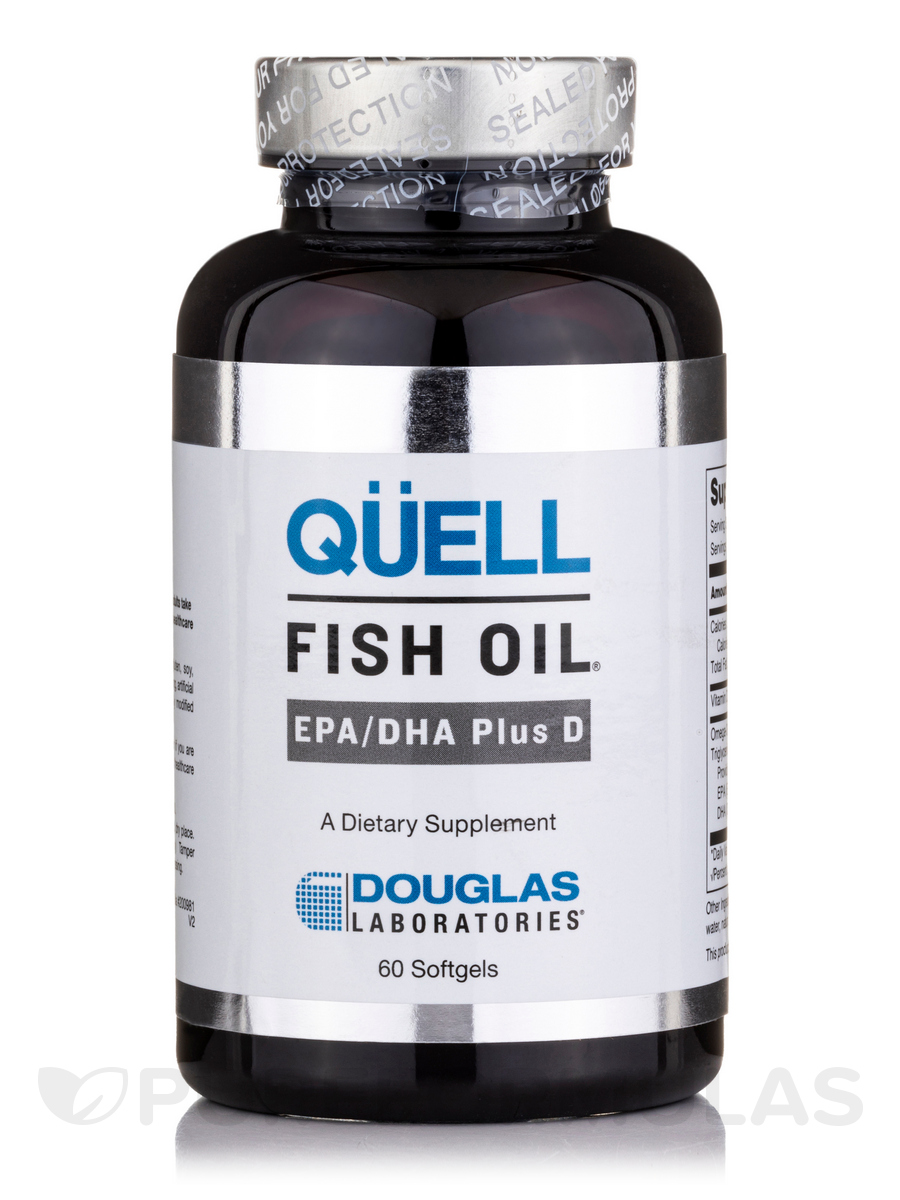 Quell Fish Oil EPA/DHA Plus D - 60 Softgels