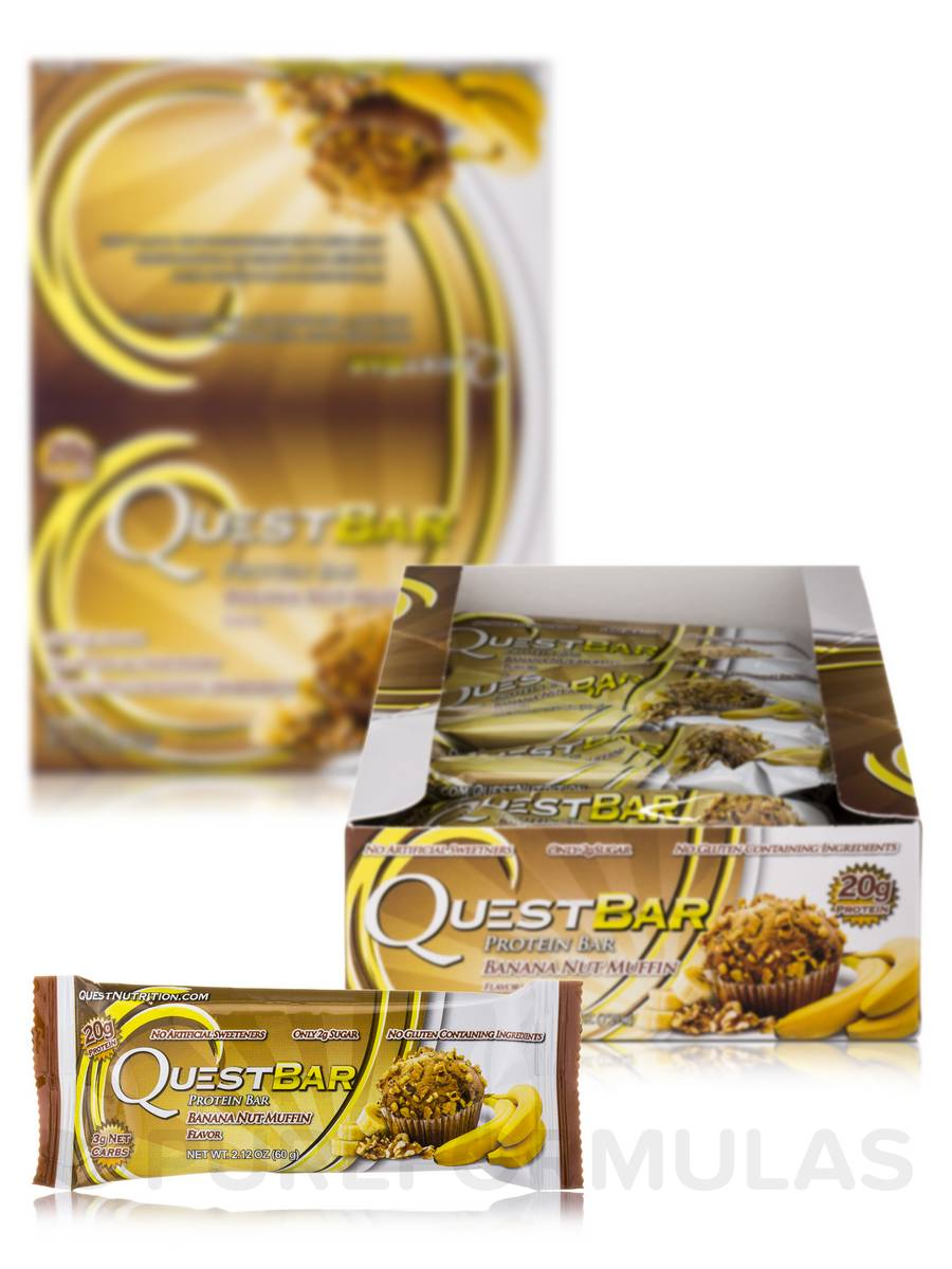 Quest Bar (Banana Nut Muffin) - Box of 12 Bars (2.12 oz / 60 Grams Each)