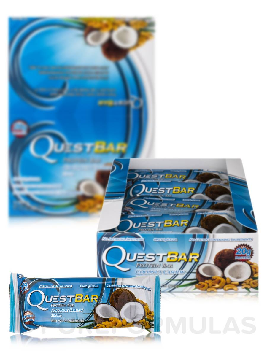 Quest Bar® Coconut Cashew Flavor Protein Bar - Box of 12 Bars (2.12 oz / 60 Grams Each)