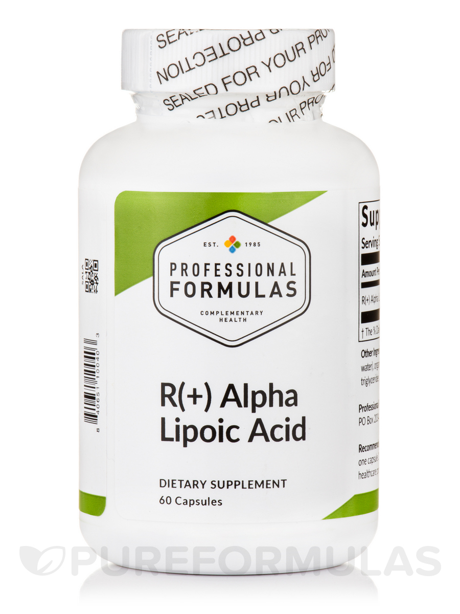 R(+) Alpha Lipoic Acid - 60 Capsules