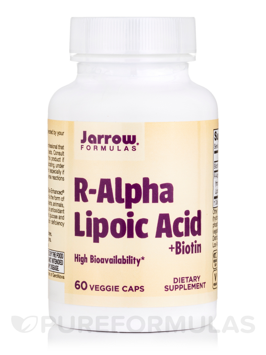 R-Alpha Lipoic Acid with Biotin - 60 Vegetarian Capsules