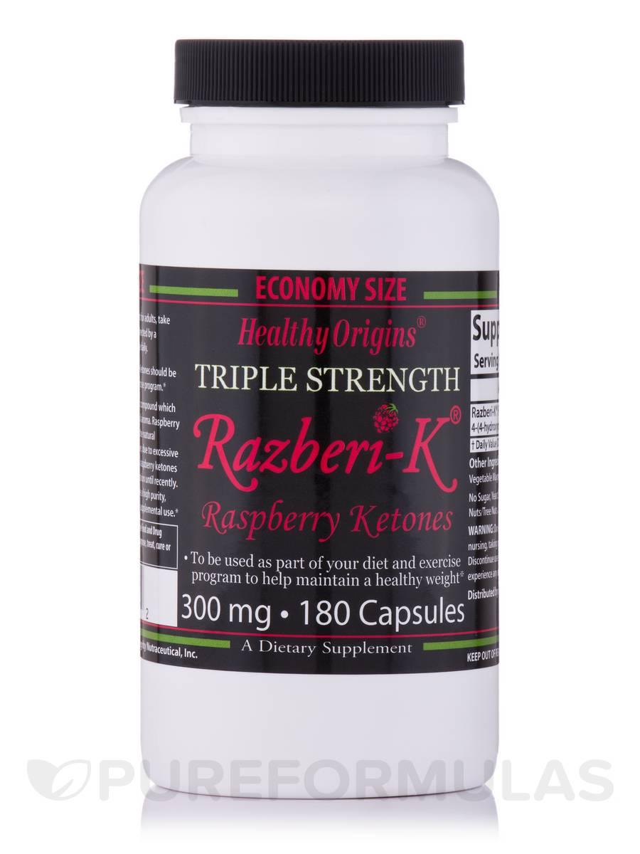 Raspberry Ketones (Razberi-K®) 300 mg - 180 Capsules