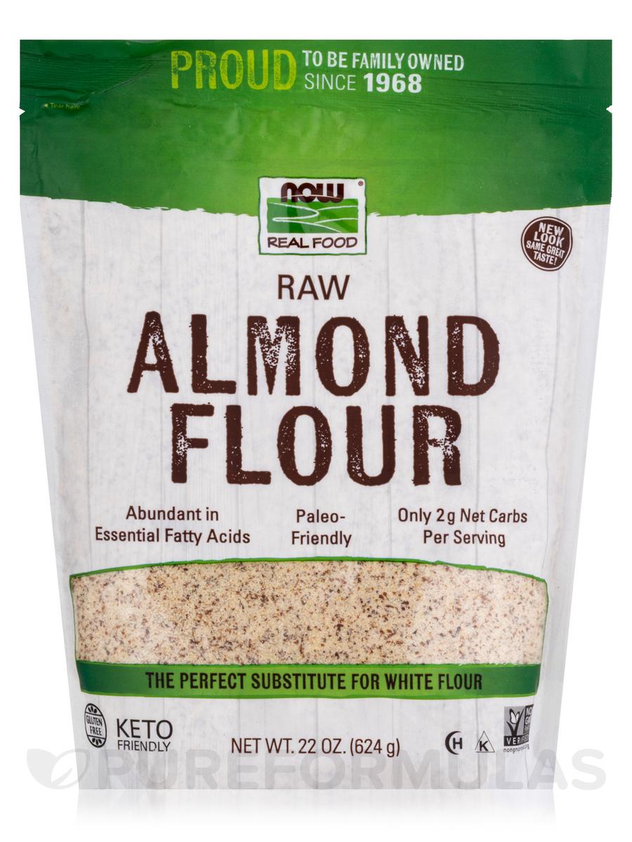 NOW Real Food® - Raw Almond Flour (Gluten-Free) - 22 oz ...