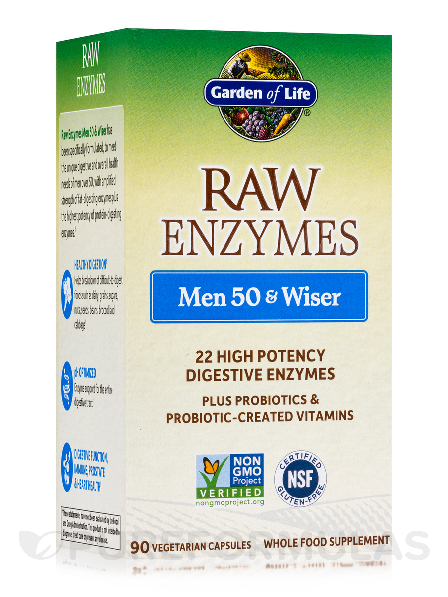 RAW Enzymes™ Men 50 & Wiser - 90 Vegetarian Capsules