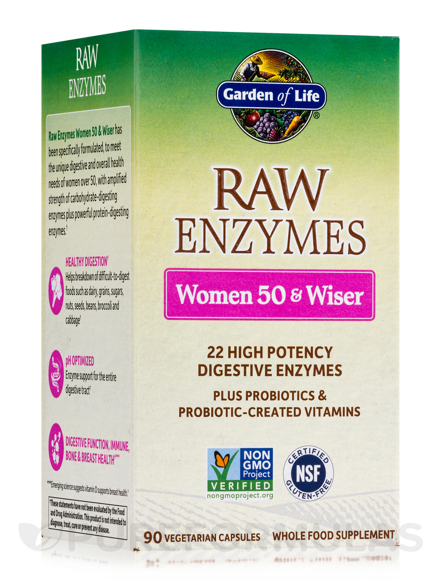 RAW Enzymes™ Women 50 & Wiser - 90 Vegetarian Capsules