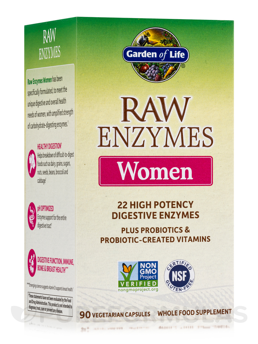 RAW Enzymes™ Women - 90 Vegetarian Capsules