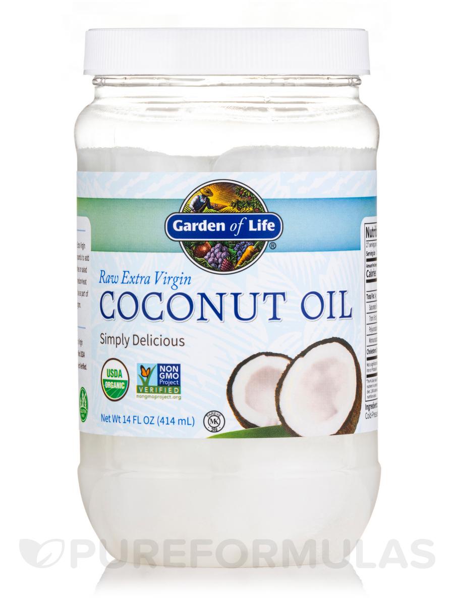 Raw Extra Virgin Organic Coconut Oil - 14 fl. oz (414 ml)