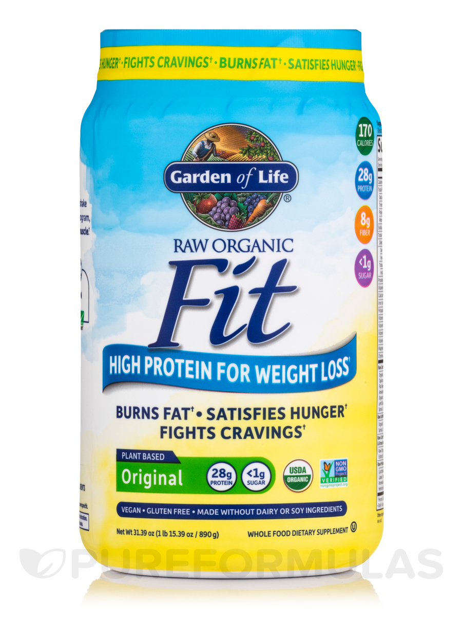 Raw organic fit high protein powder original 30 1 oz - Garden of life raw meal weight loss results ...