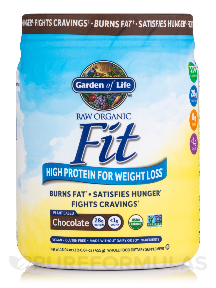 Raw Organic Fit High Protein Powder Chocolate 16 3 Oz 461 Grams