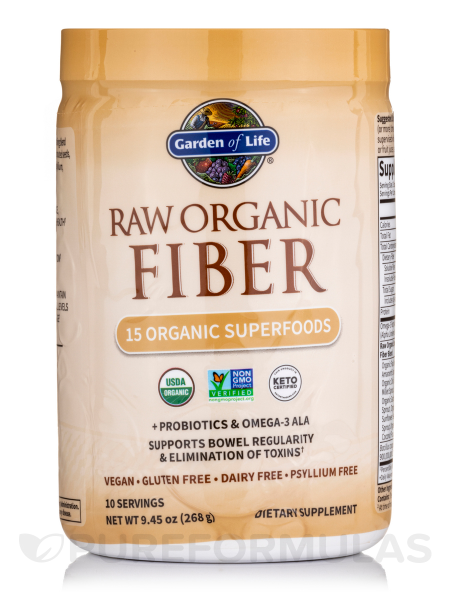 RAW Organic Fiber Powder - 9 oz (268 Grams)