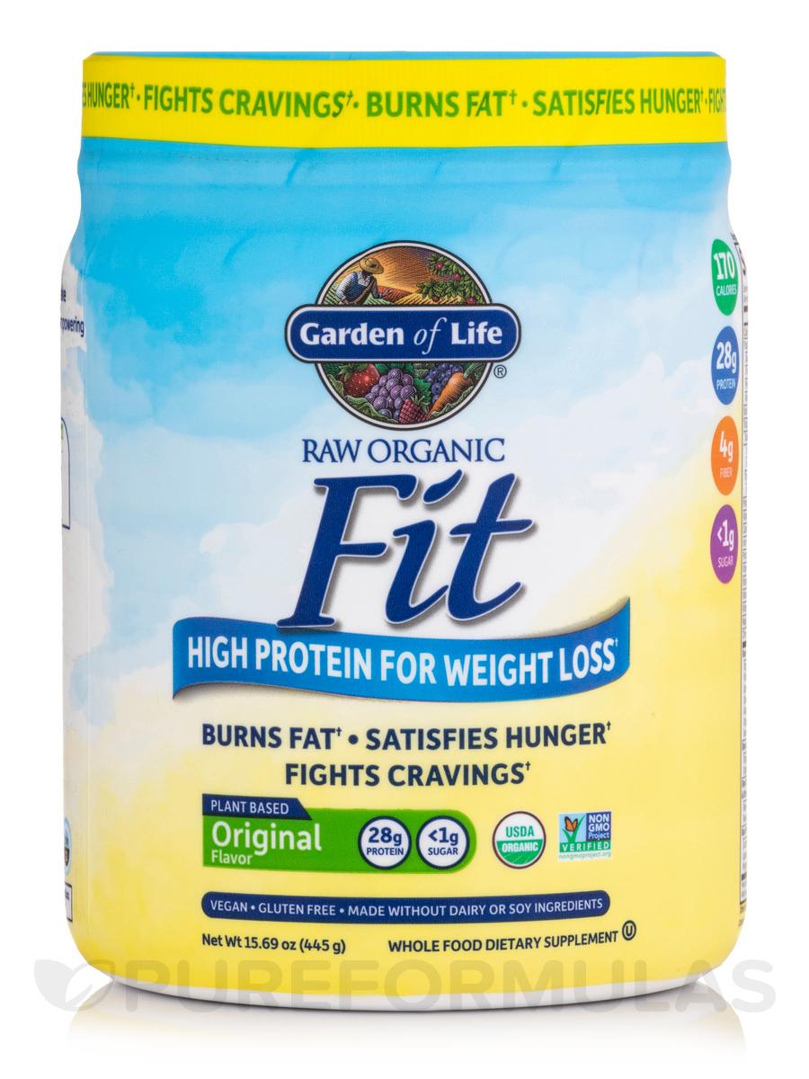 garden of life fit. Raw Organic Fit High Protein Powder, Original - 15.1 Oz (427 Grams) Garden Of Life