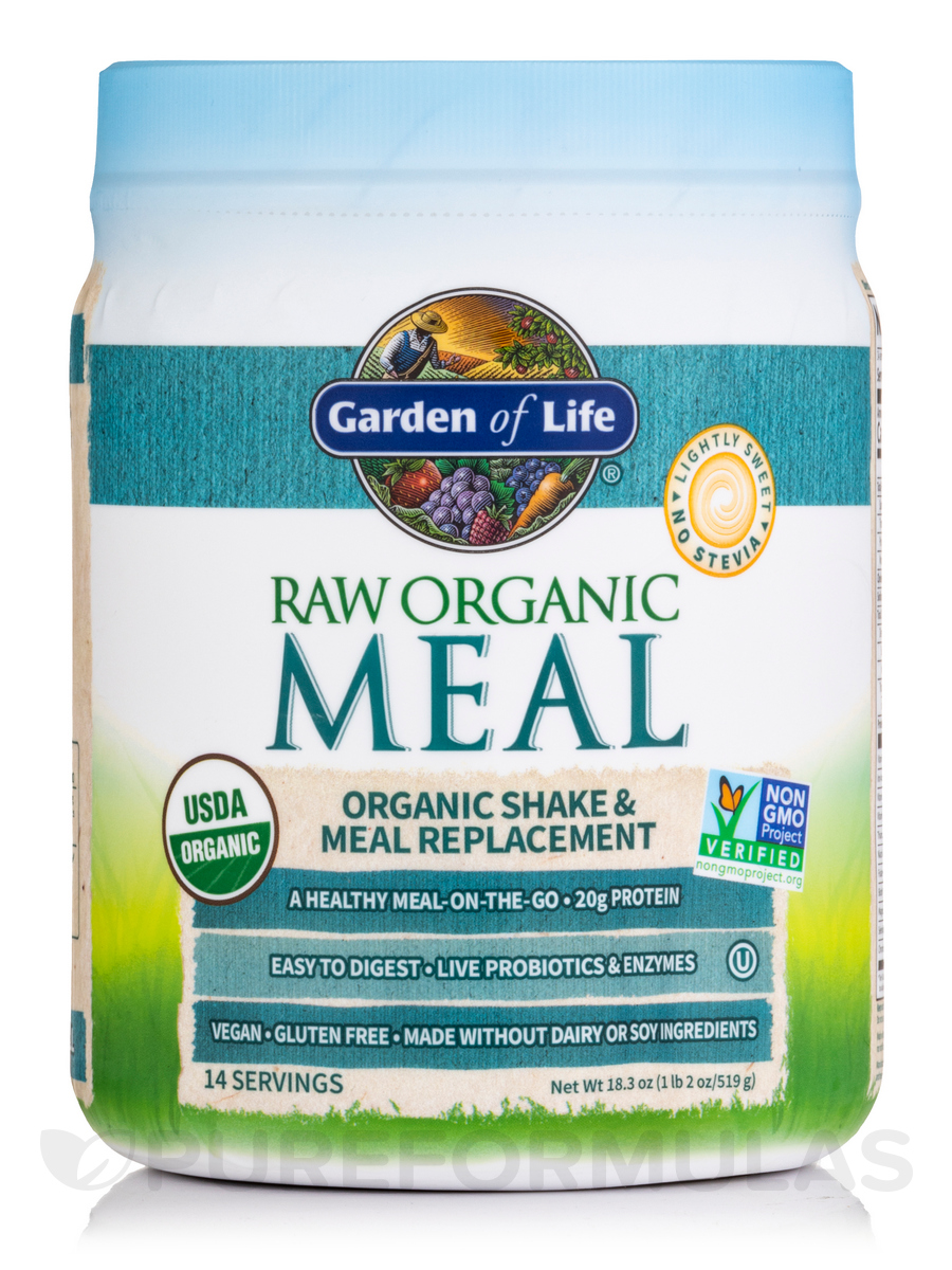 RAW Organic Meal Powder, Original Flavor - 16 oz (454 Grams)