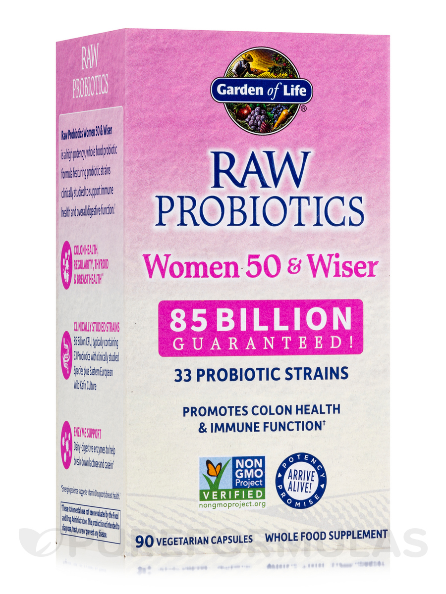 RAW Probiotics Women 50 & Wiser - 90 Vegetarian Capsules