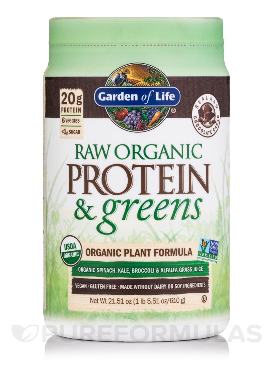 Raw Protein And Greens Chocolate 21 6 Oz 611 Grams