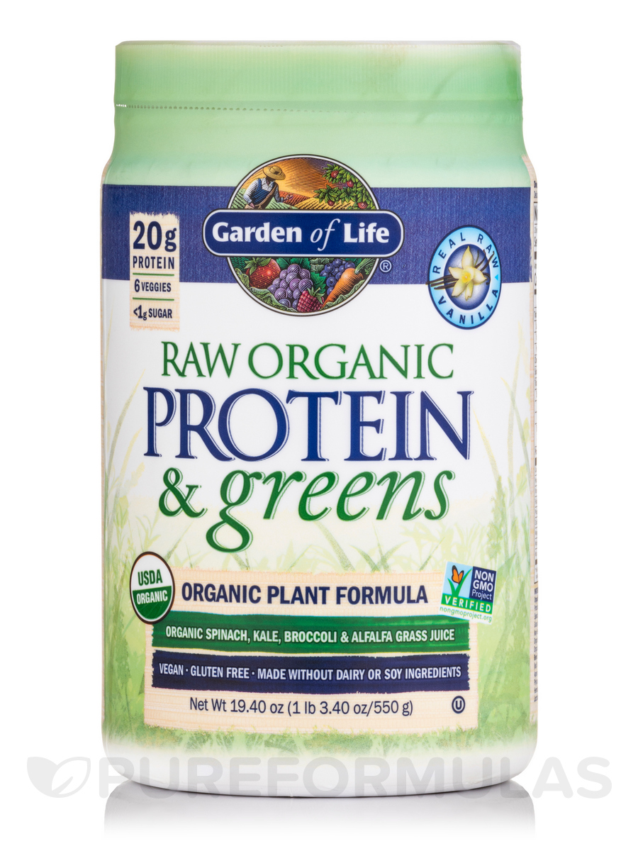 Raw Protein And Greens Vanilla 19 3 Oz 548 Grams