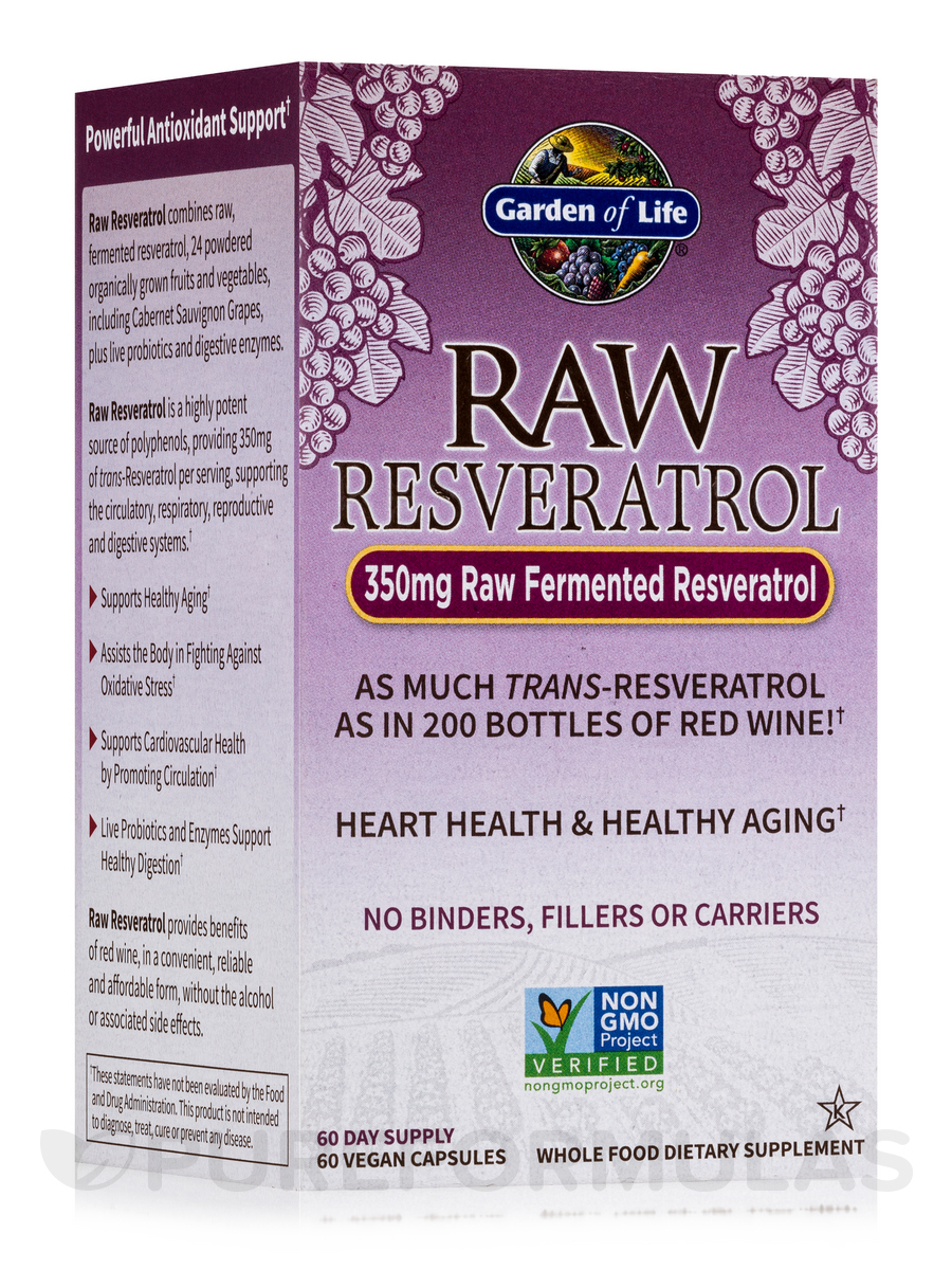RAW Resveratrol - 60 Vegetarian Capsules