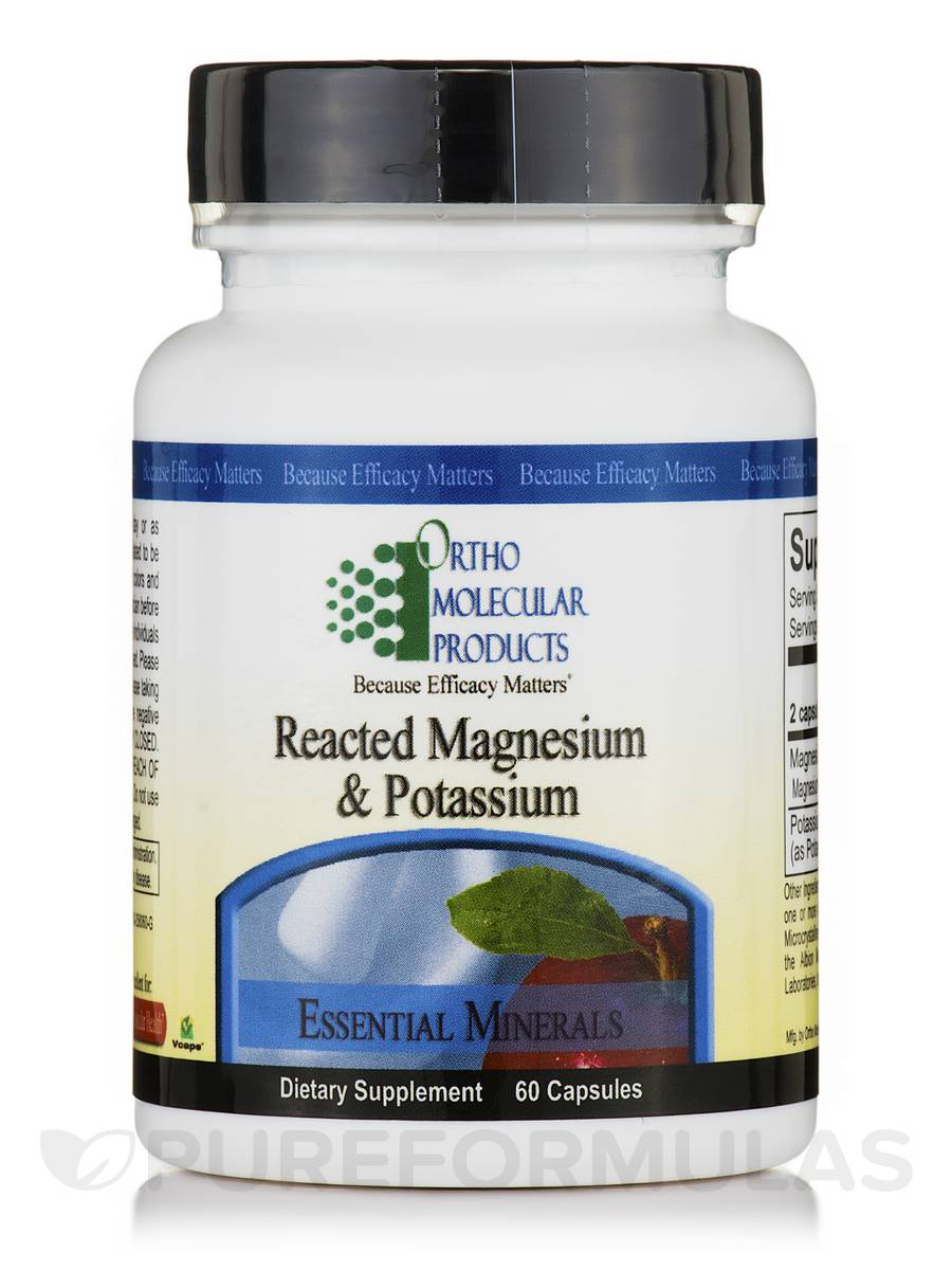 Reacted Magnesium & Potassium - 60 Capsules