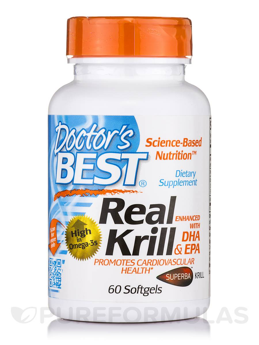 Real Krill Enhanced with DHA & EPA - 60 Softgels