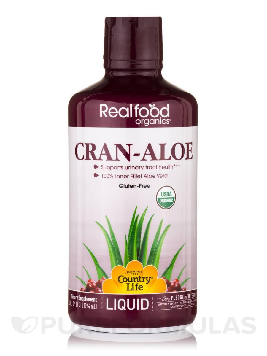 Realfood Organics® - Liquid Cran-Aloe Vera - 32 fl. oz (1 Qt / 944 ml)