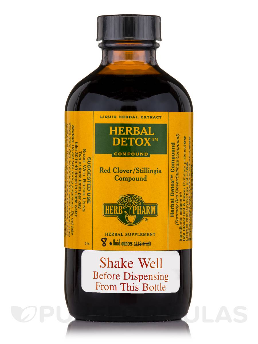 Herbal Detox Red Clover Stillingia Compound - 8 fl. oz