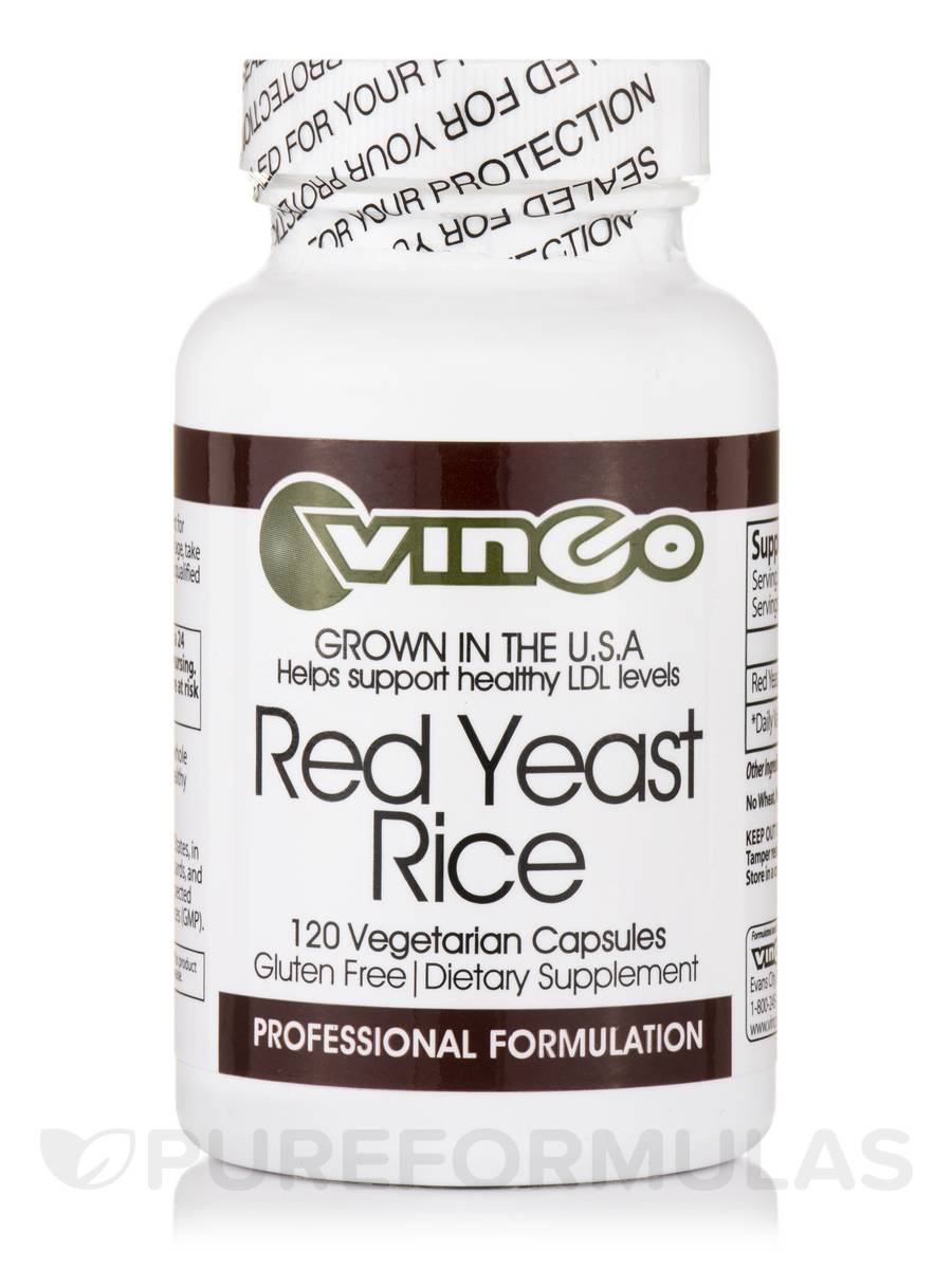 Red Yeast Rice - 120 Vegetarian Capsules