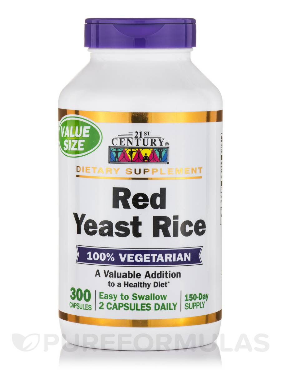 Red Yeast Rice - 300 Vegetarian Capsules