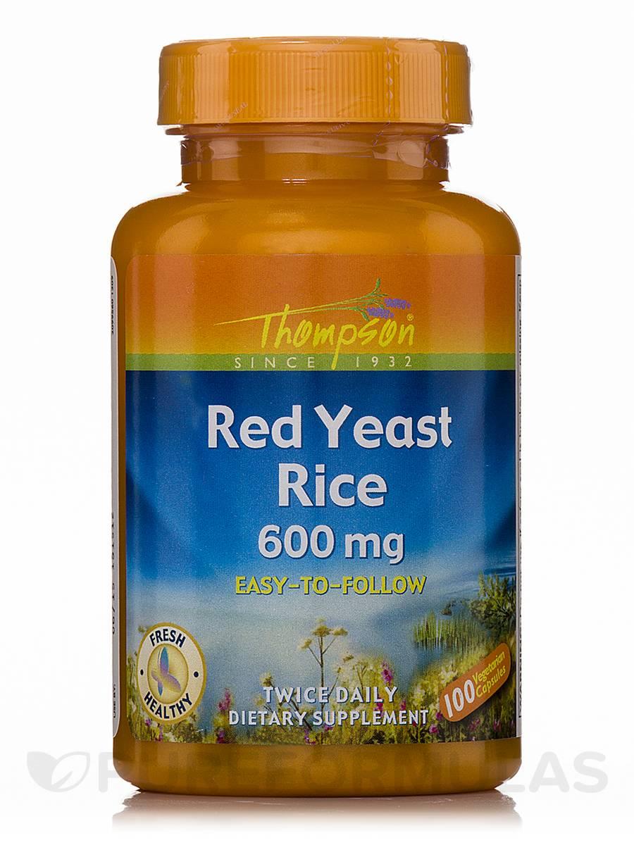 Red Yeast Rice 600 mg - 100 Vegetarian Capsules