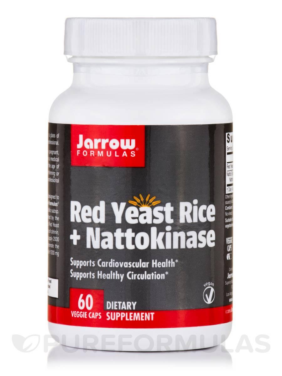 Red Yeast Rice + Nattokinase - 60 Veggie Capsules