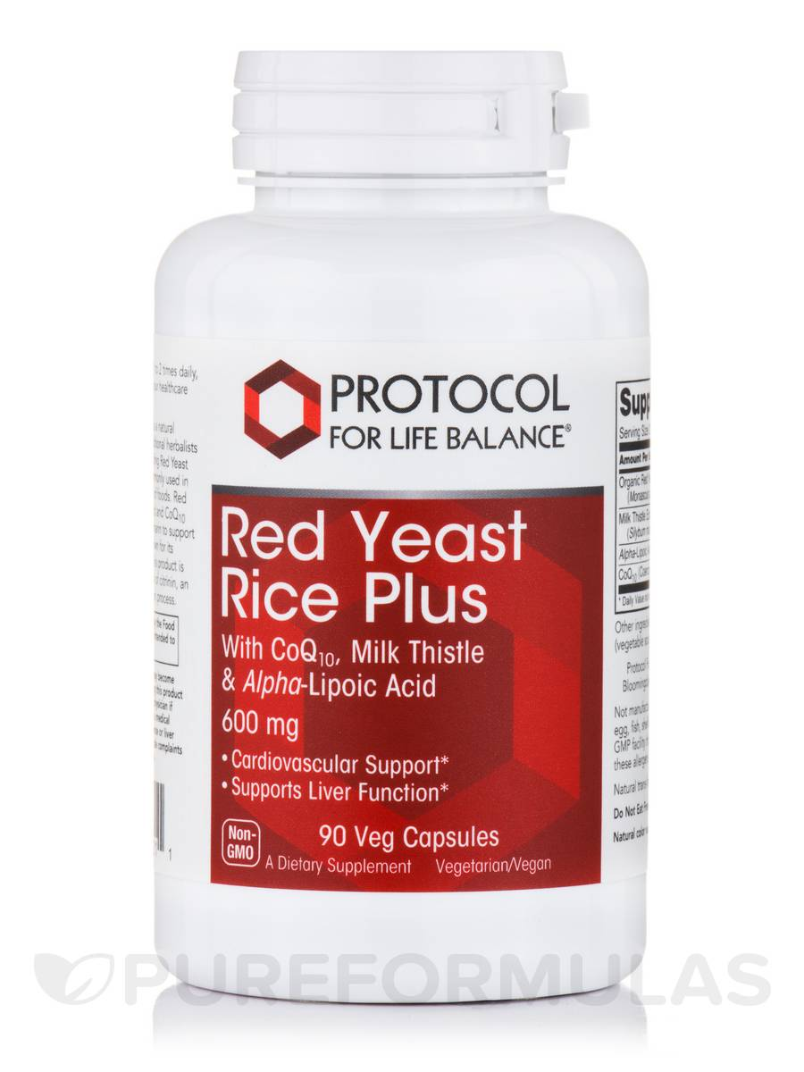 Red Yeast Rice Plus 600 mg - 90 Veg Capsules