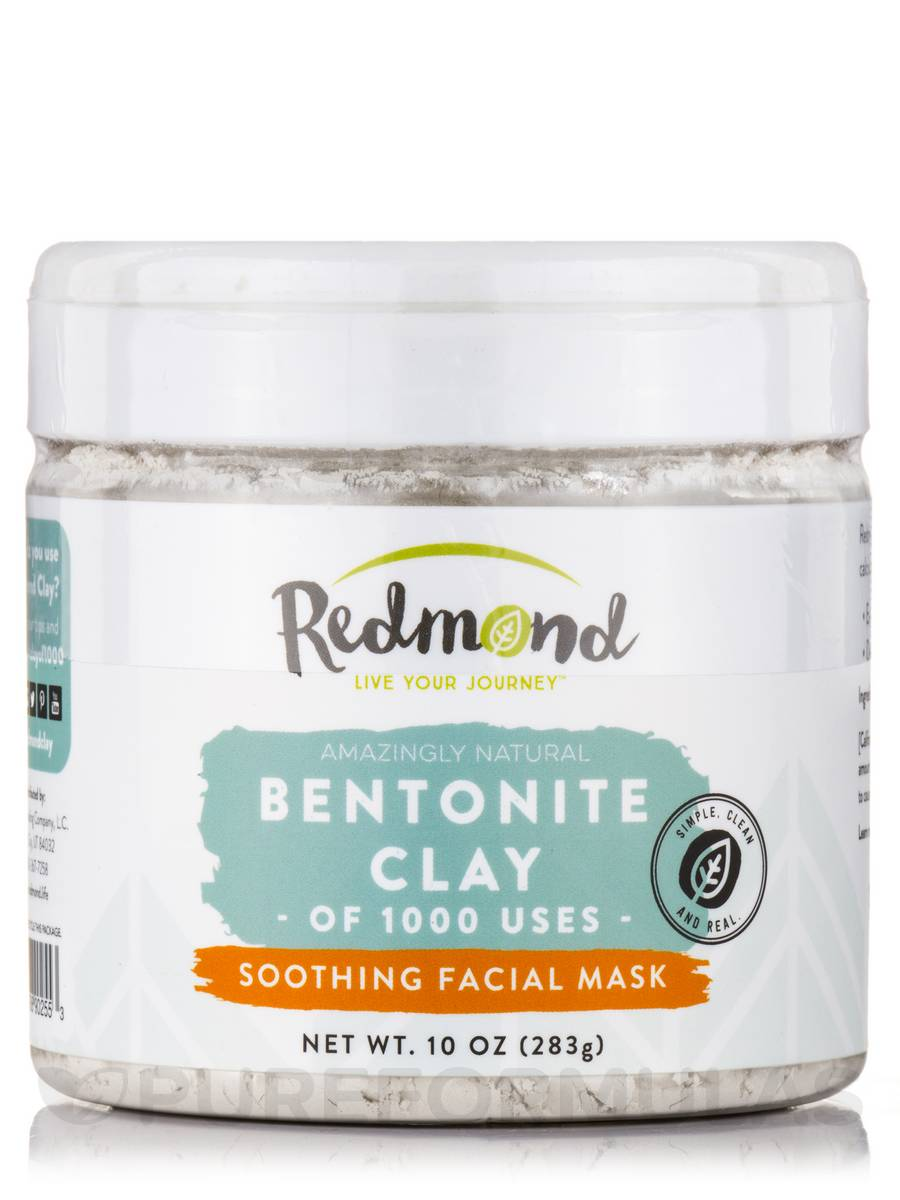 Bentonite Clay Facial Mask - 10 oz. by Redmond Trading (pack of 1) Natural Skin Care Facial Toner Moroccan Rose - 5 oz. by DeVita (pack of 6)