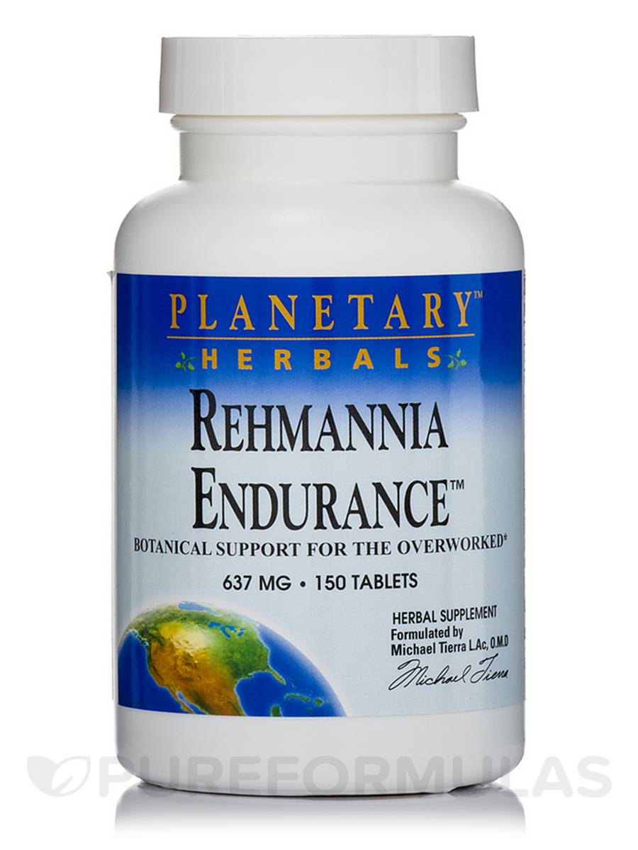Rehmannia Endurance 637 mg - 150 Tablets